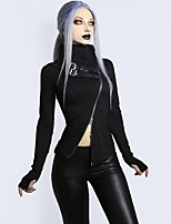 cheap -Goth Girl Gothic Goth Subculture Party Costume Masquerade Women's Costume Black Vintage Cosplay Club Bar Short Sleeve / Top