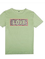 cheap -Women's T-shirt Letter Print Round Neck Tops Loose Basic Basic Top White Blushing Pink Army Green