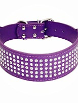 """cheap -rhinestones dog collars-2"""" wide crystal diamonds studded pu leather 5 rows sparkly crystal studded collar for medium and large dog"""
