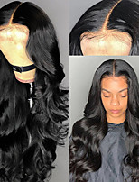 cheap -Synthetic Wig Body Wave Middle Part Wig Long Very Long Black Synthetic Hair 65 inch Women's Party Middle Part Fluffy Black