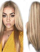 cheap -Synthetic Wig kinky Straight Natural Straight Middle Part Wig Long Light Blonde Synthetic Hair Women's Party Easy to Carry Comfortable Blonde
