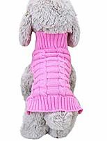 cheap -pet dog warm classic knitwear sweater,turtleneck knitted fleece sweater shirt coat,pet dog cat clothes costume apparel (s, green)