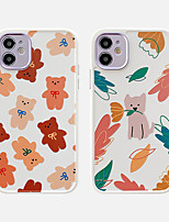 cheap -Case For Apple iPhone 11 Shockproof / Dustproof / Plating Back Cover Animal / Cartoon TPU For Case iphone 11 Pro/11 Pro Max/7/8/7P/8P/SE 2020/X/Xs/Xs MAX/XR