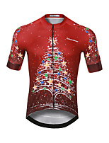 cheap -CAWANFLY Men's Short Sleeve Cycling Jersey Red Bike Jersey Top Mountain Bike MTB Road Bike Cycling Quick Dry Sports Clothing Apparel / Stretchy