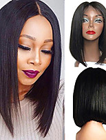 cheap -Synthetic Wig Straight Bob Layered Haircut Wig Short Black Synthetic Hair Women's Fashionable Design Classic Comfortable Black