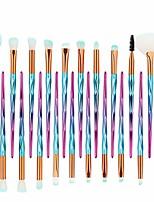 cheap -21 pcs diamond makeup brush set, premium synthetic foundation brush blending face powder blush concealers eye shadows make up brushes kit (blue)