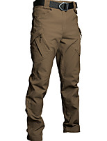 cheap -Men's Hiking Cargo Pants Summer Outdoor Breathable Quick Dry Sweat-Wicking Wear Resistance Cotton Cargo Pants Bottoms Black Khaki Green Gray Camping / Hiking Hunting Fishing S M L XL 2XL