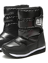 cheap -Girls' Loafers & Slip-Ons Snow Boots PU Little Kids(4-7ys) / Big Kids(7years +) Walking Shoes Split Joint Black / Purple Fall / Winter / Mid-Calf Boots