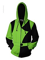 cheap -Inspired by shego kim possible Shego Anime Cosplay Costumes Japanese Cosplay Hoodies Hoodie For Men's Women's