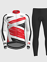 cheap -21Grams Men's Long Sleeve Cycling Jersey with Tights Red Novelty Bike Breathable Quick Dry Moisture Wicking Sports Novelty Mountain Bike MTB Road Bike Cycling Clothing Apparel / Micro-elastic