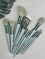 cheap -Makeup Brushes 13 Pcs Green Makeup Brush Set Premium Synthetic  Foundation Blending Face Powder Mineral Eyeshadow Make Up Brushes Set