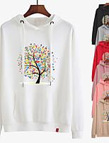 cheap -Women's Hoodie Sweatshirt Hoodies Pullover Hoody Black White Pink Cartoon Hoodie Crew Neck Cotton Cartoon Cute Sport Athleisure Pullover Long Sleeve Breathable Warm Soft Comfortable Everyday Use