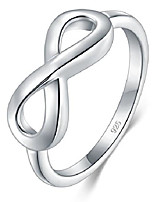 cheap -925 sterling silver ring high polish infinity symbol tarnish resistant comfort fit wedding band ring size 10.5