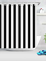 cheap -black and white stripe shower curtain,black and white shower curtains for bathroom,72x78 inch waterproof polyester fabric,concise fashion bathroom decor,hooks included