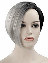 cheap -short wig for black women ombre grey bob hairstyles synthetic pixie cut hair wigs heat resistant women's fashion wigs
