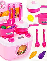 cheap -children simulation kitchenware pretend-game small tableware toy set pink