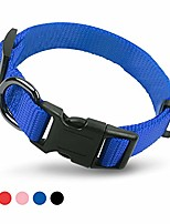 cheap -pets heavy duty nylon dog collar, personalized dog collar with buckle adjustable for large medium small dogs, comfy and safe walking, professional training, 4 colors-s/m/l (blue, s)