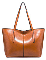 cheap -Women's Bags PU Leather Top Handle Bag Zipper for Daily / Date Black / Red / Brown