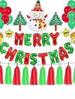 cheap -Party Balloons 30 pcs Merry Christmas Party Supplies Latex Balloons Banner Boys and Girls Party Decoration for Party Favors Supplies or Home Decoration