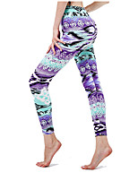 cheap -Women's Sporty Yoga Comfort Skinny Daily Leggings Pants Print Ankle-Length High Waist Purple