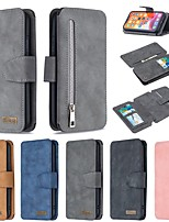 cheap -Case For Apple iPhone SE 2020 Wallet Card Holder with Stand Full Body Cases Solid Colored PU Leather iPhone 11 Pro Max XR XS Max X 7 8 Plus 6 6s Plus