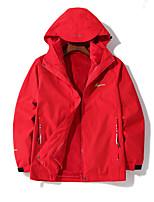 cheap -Women's Windbreaker Hiking Jacket Winter Outdoor Thermal Warm Waterproof Windproof Breathable 3-in-1 Jacket Top Camping / Hiking Outdoor Violet / Red / Pink