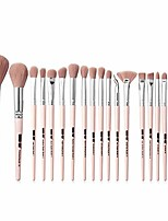 cheap -20 pcs makeup brush eye blush brush makeup brush set for foundation blending brush concealer eyeshadow, pink