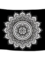cheap -Wall Tapestry Art Decor Blanket Curtain Picnic Tablecloth Hanging Home Bedroom Living Room Dorm Decoration Polyster Bohemia Solid Black Background White Mandala Beauty Views