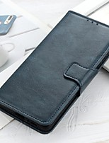 cheap -Case For Asus ROG Phone 3 ZenFone Max Pro M2 ZB631KL Max M2 ZB633KL Wallet Card Holder with Stand Full Body Cases Solid Colored PU Leather Case For ASUS ZenFone Max Plus (M1) ZB601KL ZA550KL ZS630KL