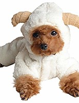 cheap -dog costume, puppy dog clothes cute winter white sheep warm hoodie jumpsuit hoodie coat (xs, white)