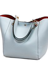 cheap -Women's Bags PU Leather Top Handle Bag Zipper for Daily / Date Black / Blue / Purple / Red