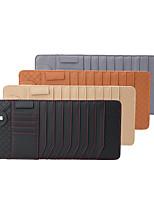 cheap -DeRanFu Genuine Leather Lambskin Car Visor Tissue Holder with CD Holder Multi-Functional CD Organizer Visor Bag Card Slot for Car & Truck