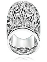 cheap -sterling silver diamond accent band ring, size 8