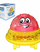 cheap -bath toys with music & lamp - bath play bath spray toys electric automatic bathing water toy with music and lights(battery not included)