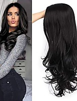 cheap -Synthetic Wig Body Wave Middle Part Wig Very Long Black Synthetic Hair Women's Exquisite Romantic Fluffy Black