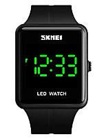 cheap -mens digital watch fashion led waterproof watch (black)
