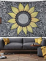 cheap -sunflower tapestry wall hanging,wall tapestry for bedroom,yellow tapestries dorm decor for living room,window curtain picnic mat,59x59 inches