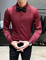 cheap -Tuxedos Standard Fit Mandarin Single Breasted More-button Polyester Solid Colored