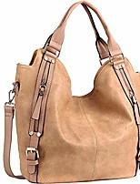 cheap -women handbags hobo shoulder bags tote pu leather handbags fashion large capacity bags apricot