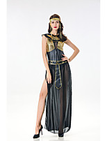 cheap -Goddess Retro Vintage Ancient Greek Vacation Dress Dress Outfits Masquerade Women's Costume Black Vintage Cosplay Party Halloween Sleeveless / Headwear / Neckwear / Sash / Ribbon / Headwear