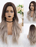 cheap -Cosplay Costume Wig Synthetic Wig Ombre Wavy Body Wave Middle Part Wig Long Light Brown Synthetic Hair 26 inch Women's Heat Resistant Ombre Hair Dark Roots Light Brown Ombre EMMOR