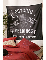 cheap -Wall Tapestry Art Decor Blanket Curtain Picnic Tablecloth Hanging Home Bedroom Living Room Dorm Decoration Polyester Black Background Hand Moon Star Letter View