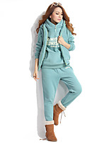 cheap -Women's Hoodie Set Pants Artistic Style Hoodie Letter Printed Sport Athleisure Sweatshirt and Pants Long Sleeve Warm Soft Comfortable Plus Size Everyday Use Daily Exercising / 3pcs / pack