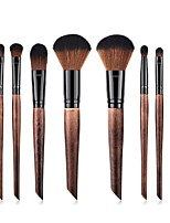 cheap -8 Pcs Imitation Mahogany Oblique Tail Handle Makeup Brush Set Blush Eye Shadow Contour Concealer