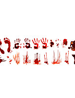 cheap -30*90cm Hallowmas Blood Handprint Stickers Horror Door Stickers DIY Wall Decoration Graffiti Wall Stickers PVC