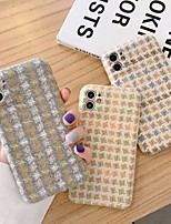cheap -Case For iPhone 11 Pattern Back Cover Lines Waves Textile Case For iPhone 11 Pro Max / SE2020 / XS Max / XR XS 7 / 8 7 / 8 plus