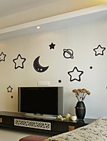 cheap -5 colors Stars Moon Cosmic Acrylic Mirror Wall Stickers 3D Wall Decor Sticker for kids Bedroom Living Room Decoration Home Sticker