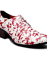 cheap -Men's Fall / Winter Casual Daily Oxfords PU Breathable Black / Red Leopard
