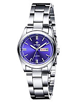 cheap -women's watches luminous waterproof calendar ladies stainless steel dress quartz wrist watch (blue)