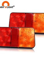 cheap -CNSUNNYLIGHT Car Truck 10 LED Rear Tail Light Warning Lights Rear Lamps Waterproof Tailight Parts for Trailer Caravans DC 12V